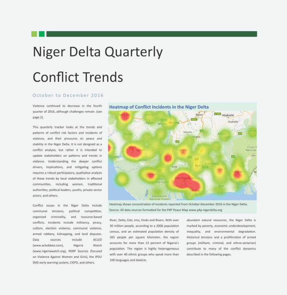 Niger Delta Conflict Tracker - 2016 Q4