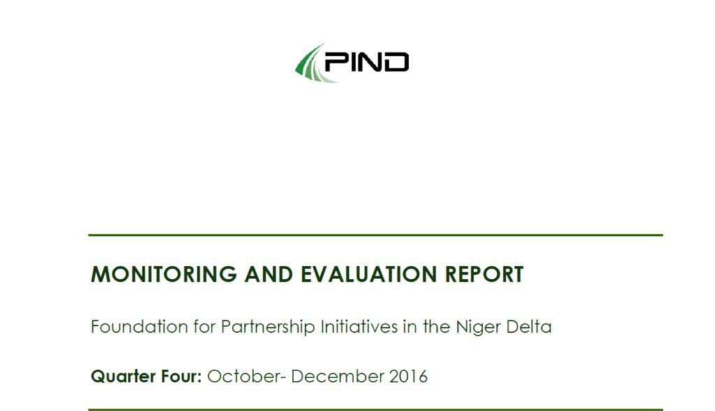PIND Q4 M&E Report