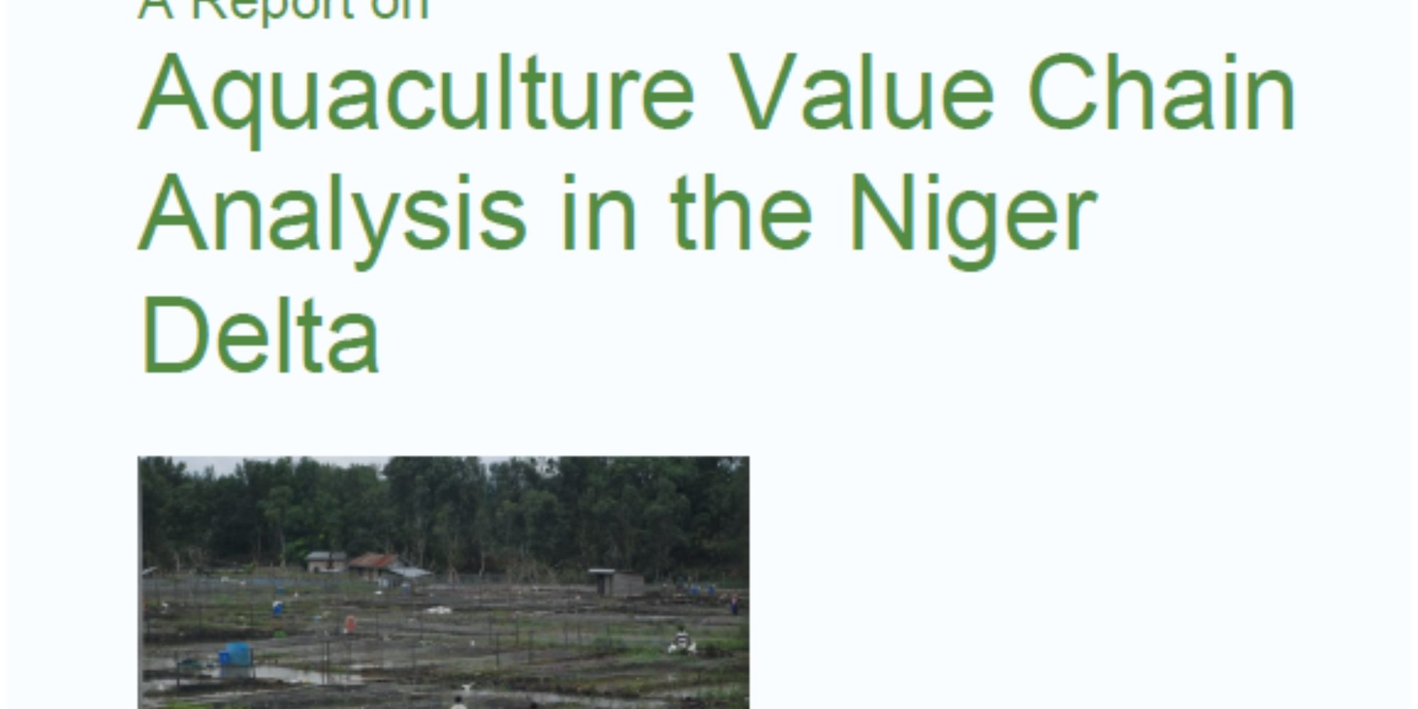 Aquaculture Value Chain Analysis — PIND Foundation